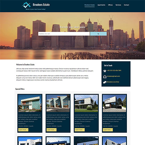 Brooker real estate theme