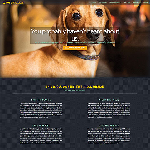 Cute Dog Club template