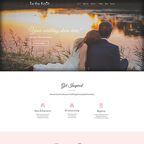 Tie The Knot template