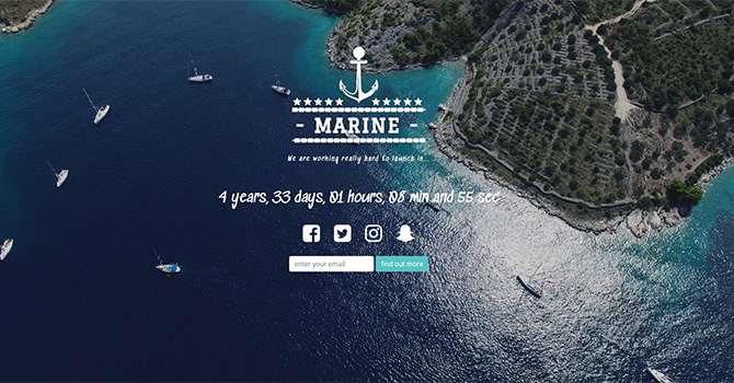 Beautiful Countdown landing page