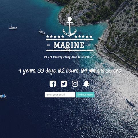 marine countdown landing page